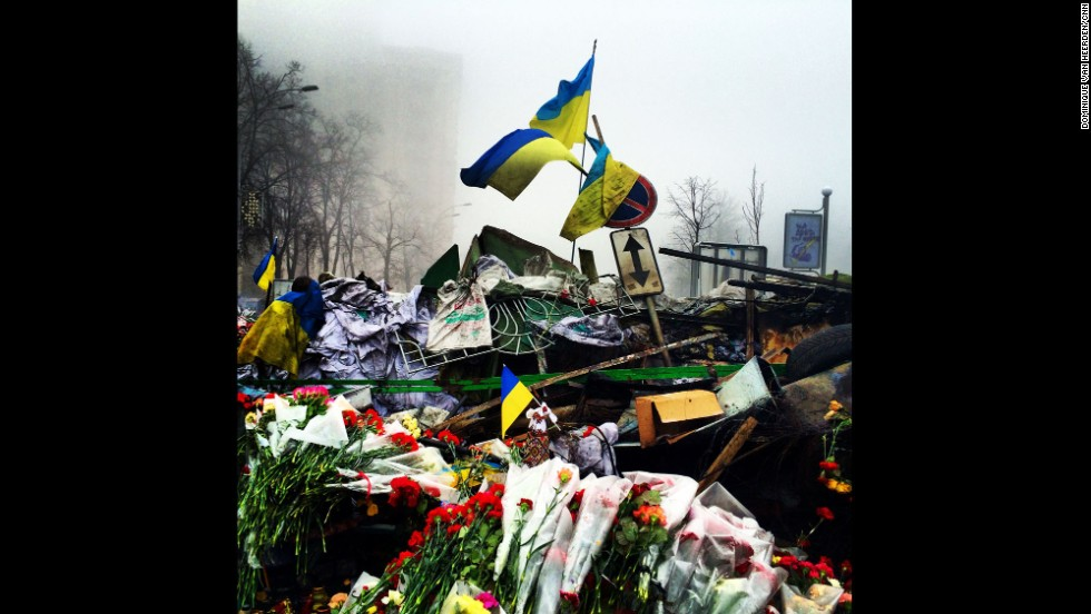 "KIEV, UKRAINE:  The Shrine of the Fallen on Institutska Street honors the ""Heroes"" killed in clashes with police.  Photo on March 4 by CNN's Dominique Van Heerden.  Follow Dominique on Instagram at <a href=""http://instagram.com/dominique_vh"" target=""_blank"">instagram.com/dominique_vh</a>."