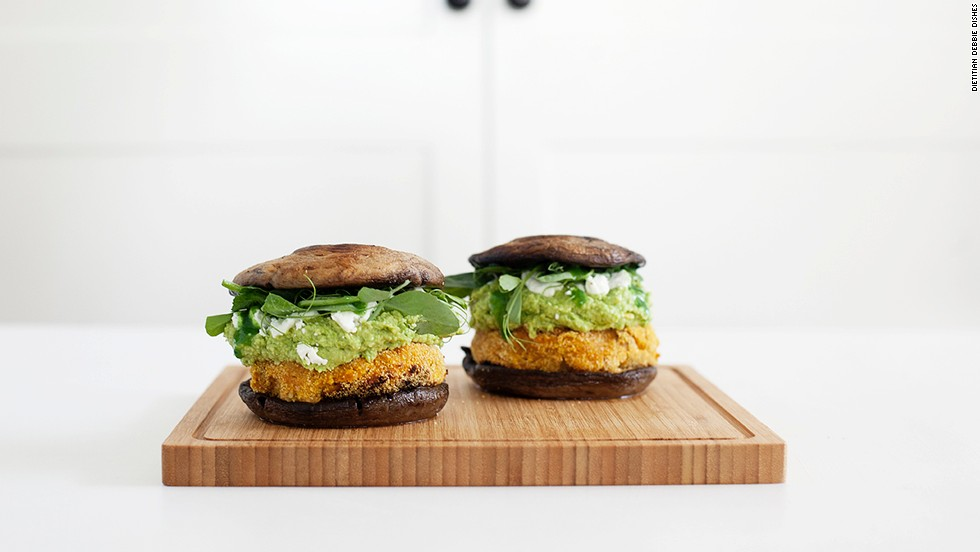 "Sweet potatoes, chickpeas, edamame and mushrooms -- what's not to love about these <a href=""http://kenkokitchen.com/blog/2013/4/9/sweet-potato-burgers-with-edamame-guacamole"" target=""_blank"">""burgers?""</a>"