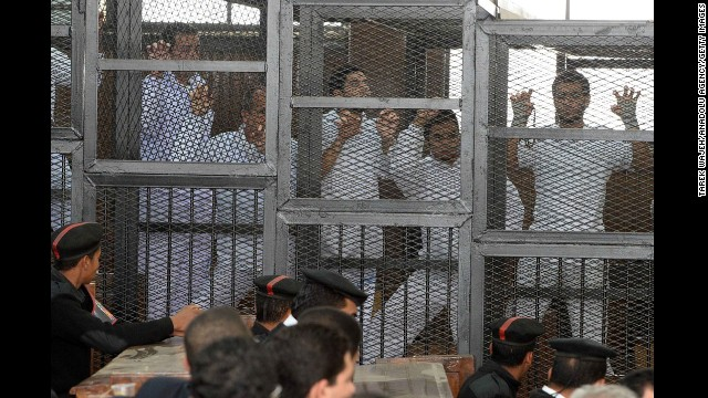 Journalists in cages
