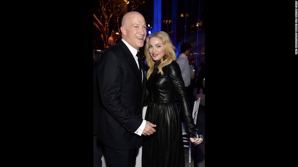 "Madonna, seen here with talent agent Bryan Lourd in February, no longer feels the need to shock with things such as her ""Sex"" book and <a href=""http://www.youtube.com/watch?v=MAy-NtCQCB8"" target=""_blank"">girl-on-girl lip-locking. </a>She recently started the <a href=""http://www.cnn.com/2013/10/04/showbiz/celebrity-news-gossip/madonna-anderson-cooper-5-things/"">""Art for Freedom"" movement</a>."