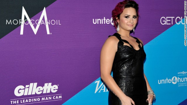LOS ANGELES, CA - FEBRUARY 27:  Actress Demi Lovato attends The Gillette Leading Man Cam at unite4:humanity presented by unite4:good and Variety and  sponsored by Gillette on February 27, 2014 in Los Angeles, California.  (Photo by John Sciulli/Getty Images for Gillette)