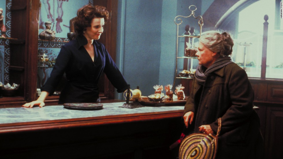 "<strong>""Chocolat"" (2000):</strong> A small French village doesn't know what hits it when a single mother moves to town and opens a delectable sweets shop. The film stars Juliette Binoche and Dame Judi Dench."