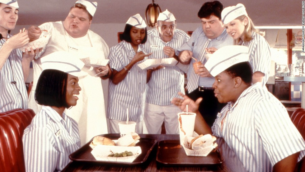 "<strong>""Good Burger"" (1997):</strong> Kel Mitchell, Abe Vigoda (center) and Kenan Thompson star in this fan favorite."