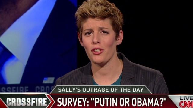 Crossfire Sally Kohn Outrage on Obama vs. Putin survey_00001110.jpg