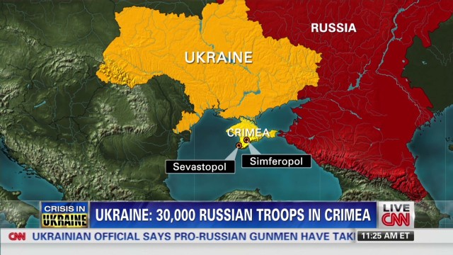 Ukraine: 30,000 Russian troops in Crimea