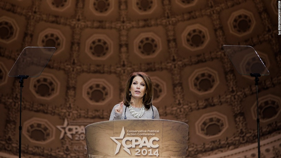 U.S. Rep. Michele Bachmann, R-Minnesota, speaks during CPAC on Saturday, March 8.