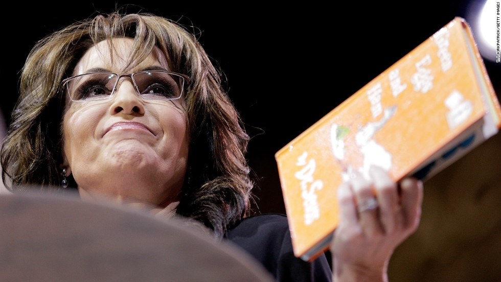 Conservative pundit, television personality and former vice presidential candidate Sarah Palin speaks at CPAC on March 8.