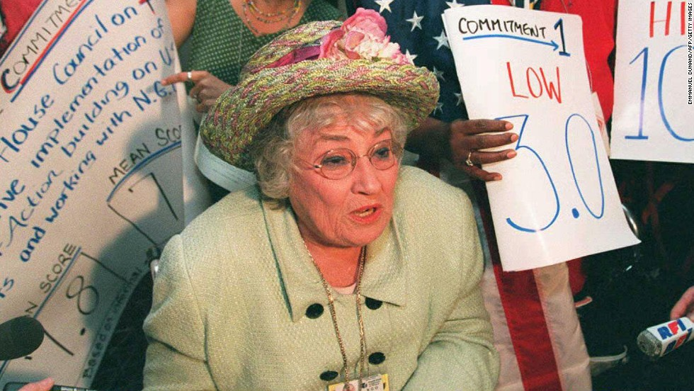 "U.S. congresswoman, lawyer and women's advocate <a href=""http://jwa.org/womenofvalor/abzug"" target=""_blank"">Bella Abzug was a national figure </a>who authored a bill to create the <a href=""http://jwa.org/womenofvalor/abzug/spirit-of-houston"" target=""_blank"">first National Women's Conference in 1977</a>."