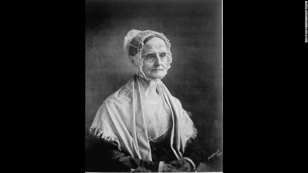 "Lucretia Mott was a Quaker abolitionist who<a href=""http://www.nps.gov/wori/historyculture/lucretia-mott.htm"" target=""_blank""> founded the Philadelphia Female Anti-Slavery Society in 1833</a> after she was excluded from some all-male abolitionist meetings. She later became the first president of the American Equal Rights Association,<strong> </strong>whose mission was to grant equality for blacks and women."