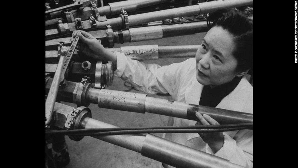 "Chinese-American physicist Chien-Shiung Wu (1912-1997) focused her research predominantly on the techniques of experimental physics and radioactivity. She was known for her work on the Manhattan Project, which produced the first nuclear weapon during World War II. Her nicknames included the ""First Lady of Physics"", ""Chinese Marie Curie"" and ""Madame Wu""."