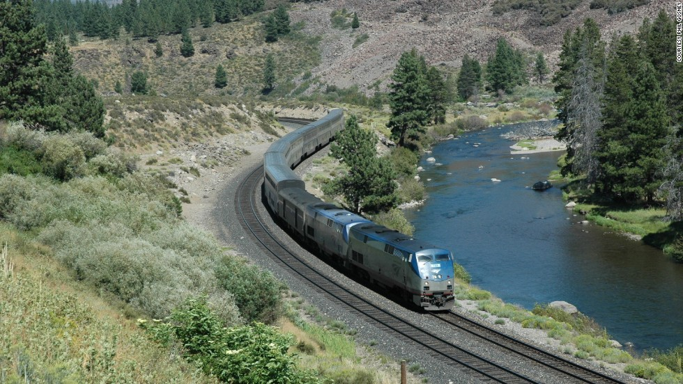 The California Zephyr plies one of the most beautiful train routes in North America. Climbing through the heart of the Rockies and the snow-capped Sierra Nevadas may ennoble the stout of word, but the outstanding views might distract less disciplined writers.
