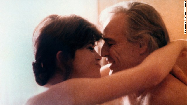 "Maria Schneider and Marlon Brando in ""Last Tango in Paris,"" the film that first led Alex Mar to think of older men."