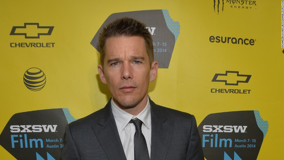 "Ethan Hawke arrives at the premiere of ""Boyhood"" at the 2014 SXSW Music, Film + Interactive Festival March 9 in Austin, Texas."