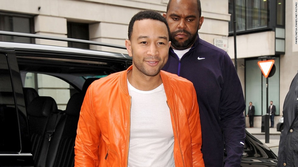 Singer John Legend stops by BBC Radio 2 studio in London, England, on March 10.