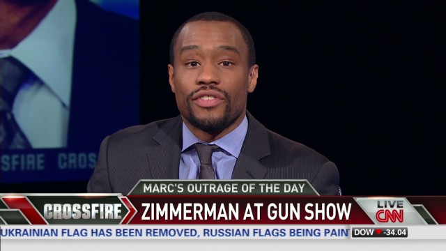 Crossfire Marc Lamont Hill outraged Zimmerman autographing at gun show_00002021.jpg