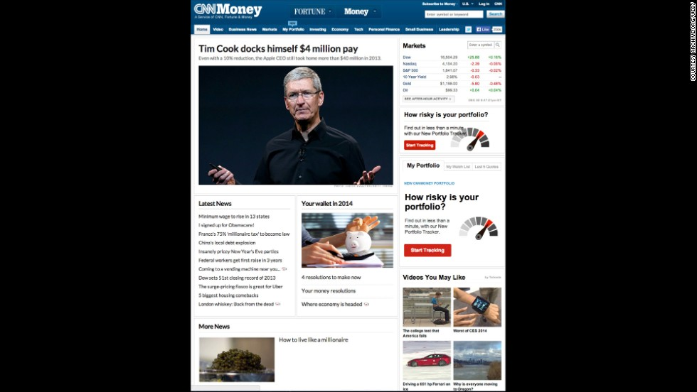 CNNMoney.com, as seen in December.