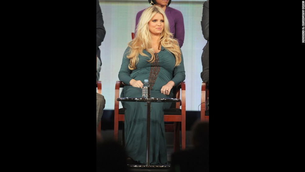 "Simpson gained 70 pounds during her first pregnancy with daughter Maxwell. She signed a deal with Weight Watchers shortly afterward. Stepping on the scale at the first meeting, ""I thought my life was completely over,"" <a href=""http://www.etonline.com/news/129947_Jessica_Simpson_Talks_Weight_Watchers_Weight_Loss/"" target=""_blank"">she told ET Online</a>. ""I was not expecting to see the number that I saw, because it's just never a number that I could fathom weighing. ... Standing on the scale, and faced with a severe truth -- and I didn't know if I could do it."""