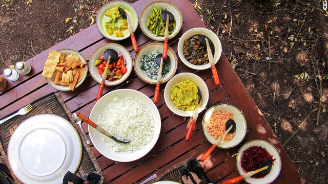 Sri Lankan curry is limited only by the size of the table.