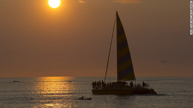 Here floats Aloha.