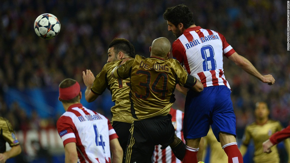 Raul Garcia headed home Atletico's third of the night with 20 minutes remaining to give his side a 3-1 lead on the night. Costa added his second and Atletico's fourth to wrap up the victory.