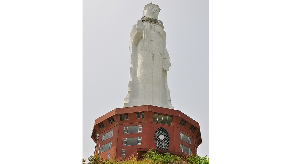 "At a total height of 100 meters, the <a href=""http://abandonedkansai.com/2012/09/24/world-peace-giant-kannon/"" target=""_blank"">World Peace Giant Kannon</a>, or Awaji Kannon, is one of the tallest statues in the world. Located on Awaji Island, in Japan's Hyogo Prefecture, it closed in 2006 following the death of its owner. Though put to auction several times since, Seidel says there were no takers."