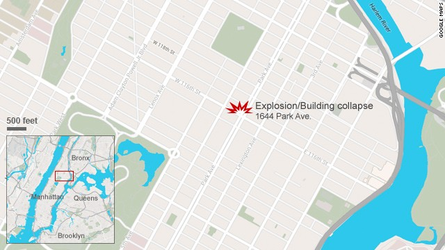 Map: Explosion in Harlem