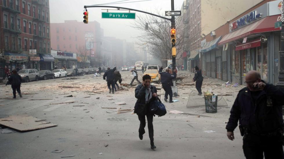 People run from the scene.