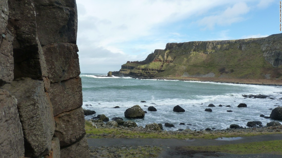 "Also in County Antrim, Giant's Causeway is a popular spot for Northern Ireland visitors. <a href=""http://ireport.cnn.com/docs/DOC-1100301"">Kristen Jackson</a> captured the calm before the storm on the coast. ""By the time we left, the sky was gray, the waves were crashing and the wind could blow you right over. It was pretty amazing,"" she said."