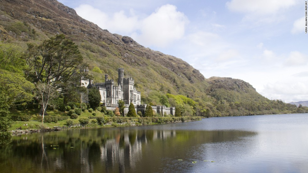 "<a href=""http://www.kylemoreabbey.com"" target=""_blank"">Kylemore Abbey</a> in Connemara has been home to a community of Benedictine nuns since 1920. Originally a castle, the stunning lakeside dwelling was built by Mitchell and Margaret Henry from 1867 to 1871."