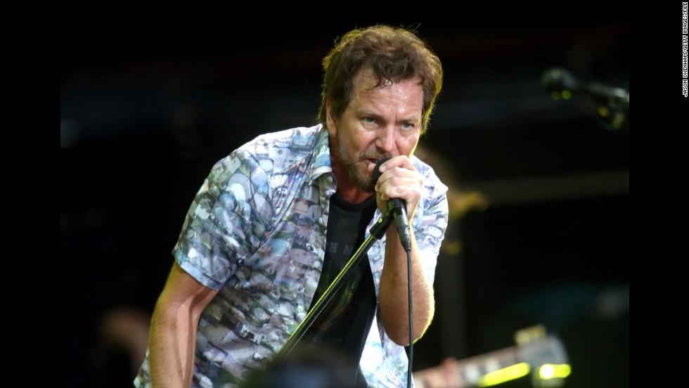 Eddie Vedder of Pearl Jam also celebrates his big day in December.