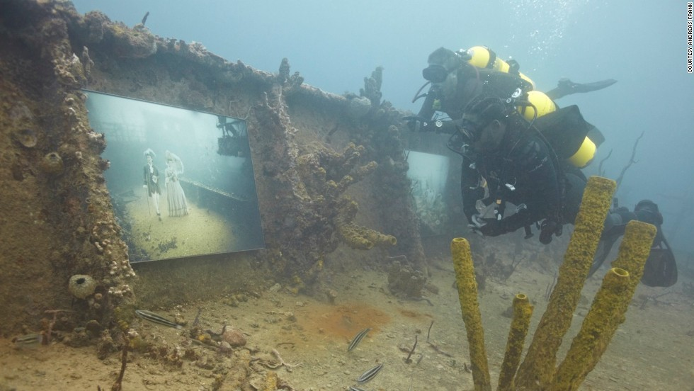 Franke's Stavronikita Project was displayed on the sunken SS Stavronikita, off the coast of Barbados.