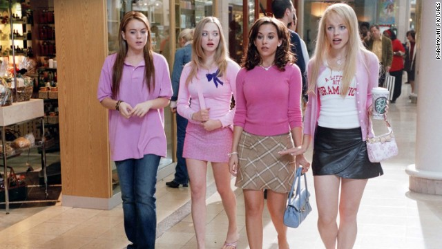 "Lindsay Lohan, Amanda Seyfried, Lacey Chabert and Rachel McAdams star in the 2004 film ""Mean Girls."""