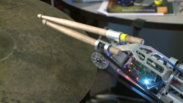 Musician gets bionic drumming arm