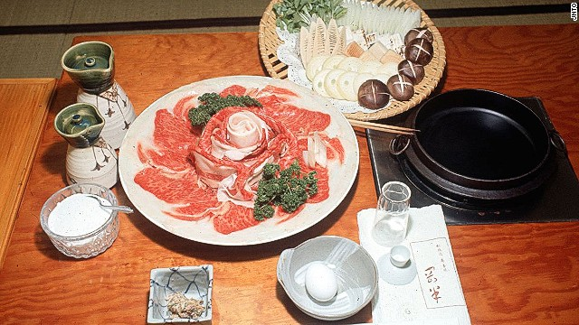 Sukiyaki: mix, simmer, dip in raw egg, emit murmur of satisfaction.
