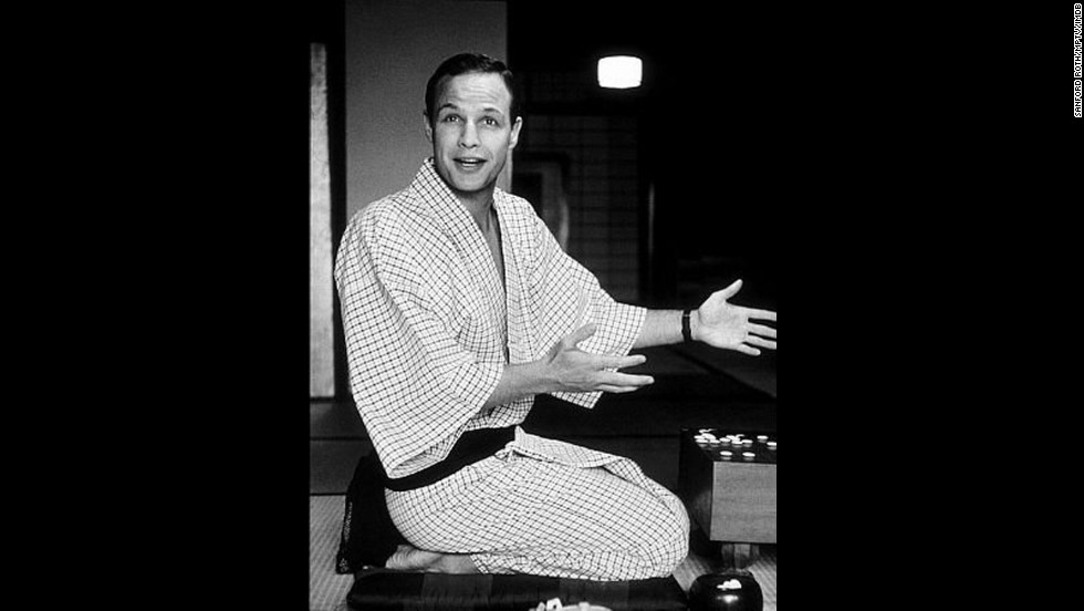"Marlon Brando was cast as Sakini, a local from Okinawa, in the 1956 comedy ""The Teahouse of the August Moon."""