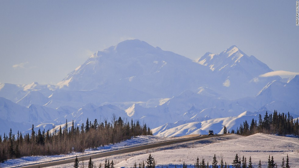 The George Parks Highway connects the state's two largest cities -- 323 miles between Anchorage and Fairbanks. A clear day offers spectacular views of Mt. McKinley, the tallest mountain in North America (20,237 feet).