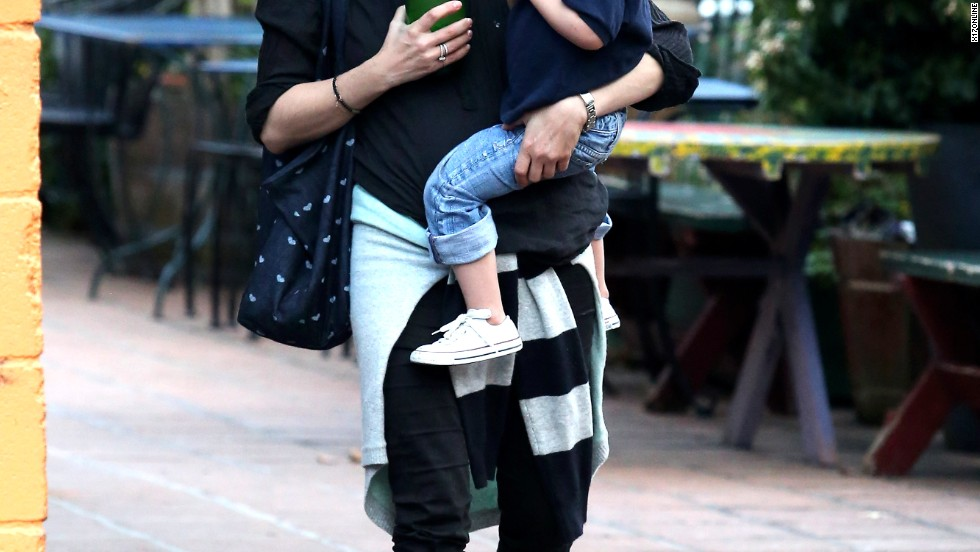 Selma Blair and her son Arthur share a laugh in West Hollywood on March 13.