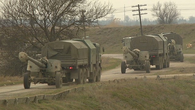 Russian artillery deployed around Crimea