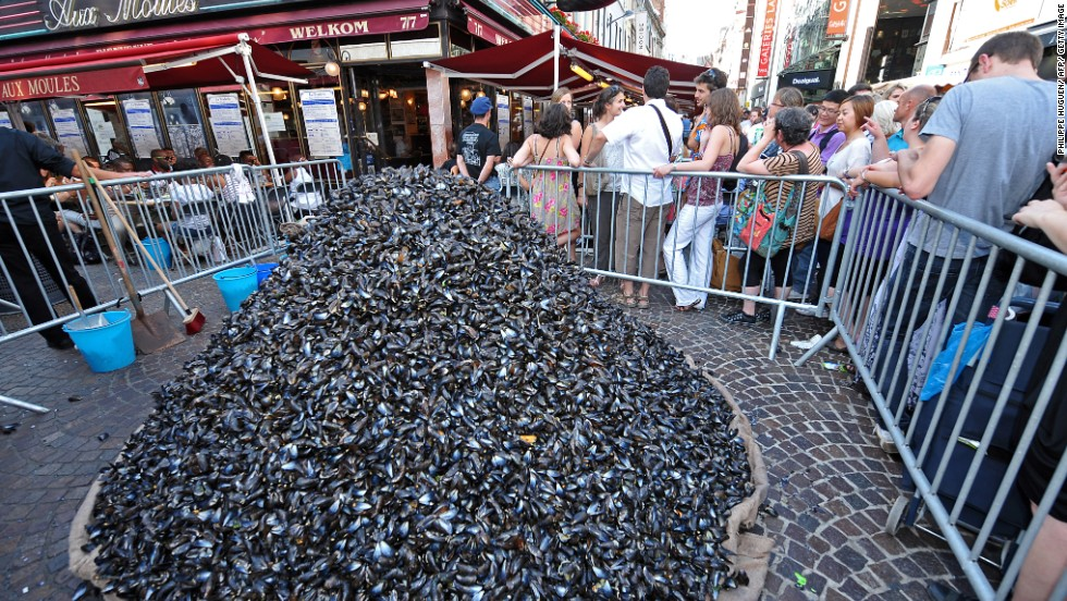 "Moules frites (mussels served with French fries) is a Lille tradition and subject of a contest between the town's restaurants to see which can build the highest mountain of empty mussel shells during <a href=""http://www.braderie-de-lille.fr/"" target=""_blank"">Braderie</a>, one of Europe's largest flea markets."