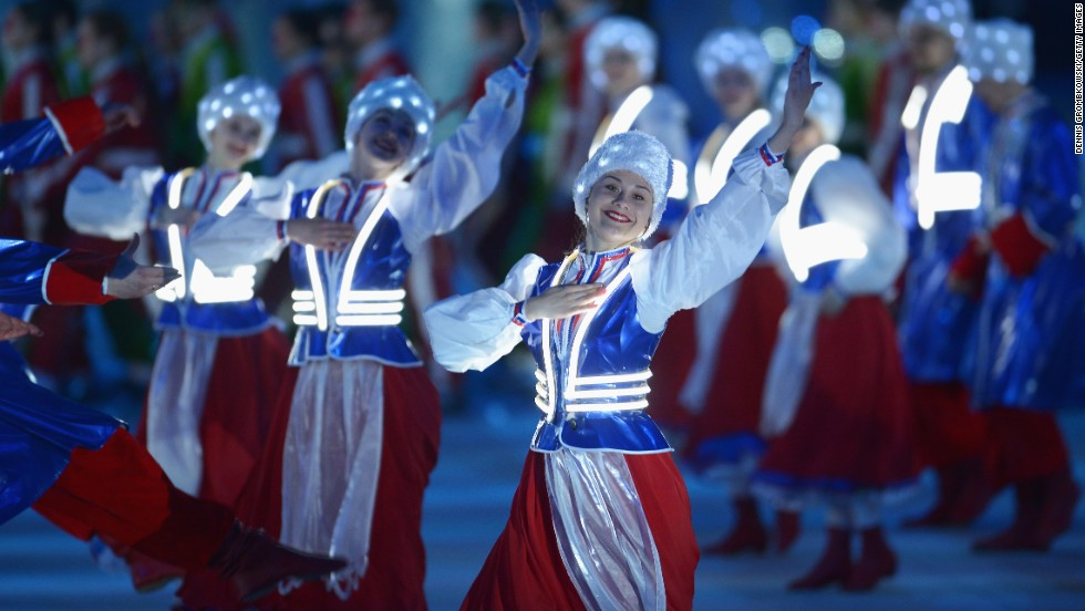 Dancers perform during the Closing Ceremony on March 16.
