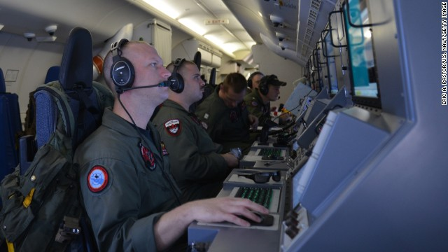 INDIAN OCEAN - MARCH 16: In this handout provided by the U.S. Navy, Crew members on board a P-8A Poseidon assigned to Patrol Squadron (VP) 16 man their workstations while assisting in search and rescue operations for Malaysia Airlines flight MH370 March 16, 2014 in the Indian Ocean. VP-16 is deployed in the U.S. 7th Fleet area of responsibility supporting security and stability in the Indo-Asia-Pacific. The missing aircraft disappeared one week ago carrying 227 passengers and 12 crew, baffling the international rescue and search teams who have found no remains or clues in the waters surrounding South East Asia. All passengers and crew are currently under investigation for possible sabotage although no evidence of such activity has been found. (Photo by Mass Communication Specialist 2nd Class Eric A. Pastor/U.S. Navy via Getty Images)