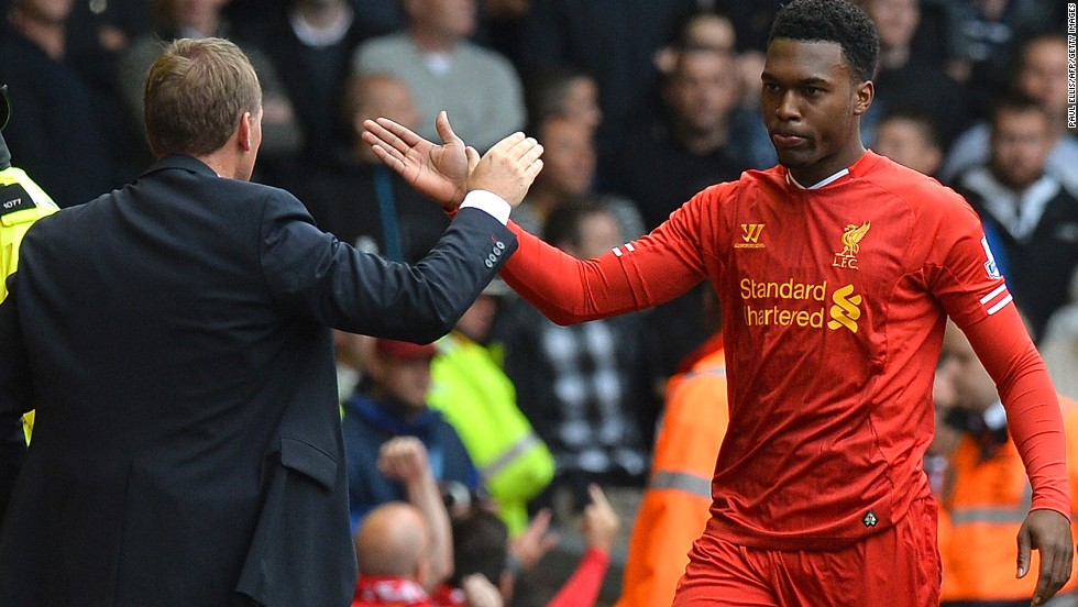 Sturridge has prospered under the attacking style of play preferred by Liverpool manager Brendan Rodgers (left).