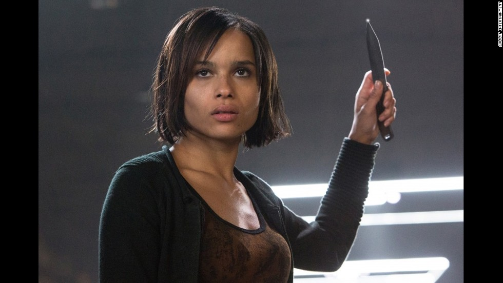 Joining Tris as a Dauntless newcomer is Christina (Zoe Kravitz), who comes from the frank Candor faction and quickly becomes Tris' friend during their training.