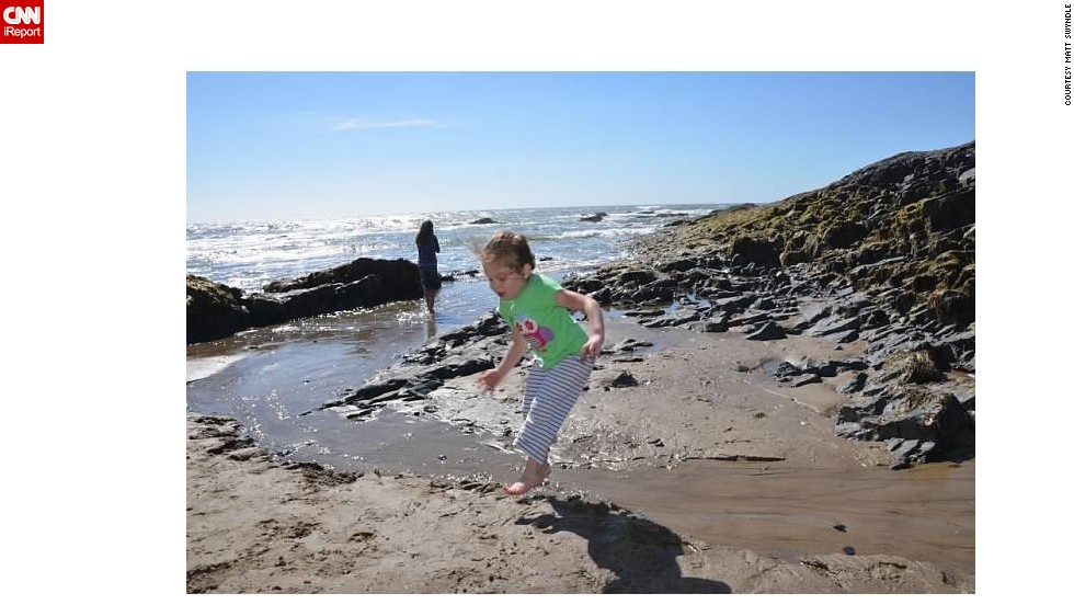 "<a href=""http://ireport.cnn.com/docs/DOC-1097353"">Matt Swyndle</a> and his wife traveled with their daughters Layla, 4, (pictured) and Maren, 2, last summer to Lincoln City, Oregon. His wife had been there with her own family as a child."
