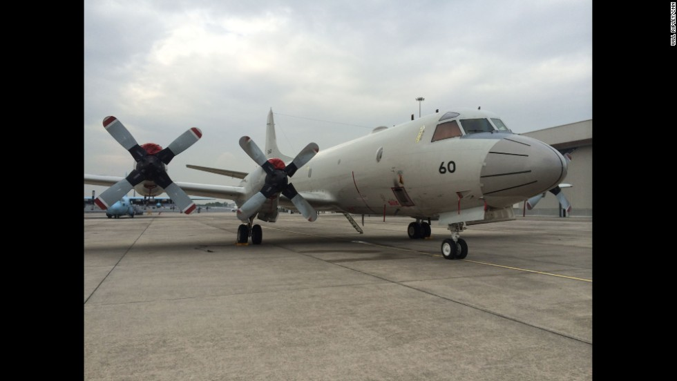 """A P-3 Orion from Japan waiting to search for the missing MH370 at Subang Airport. It can cover 15,000 square miles in one nine-hour flight."" By CNN's Will Ripley, March 17.  Follow Will on Instagram at <a href=""http://instagram.com/willripleycnn"" target=""_blank"">instagram.com/willripleycnn</a>."