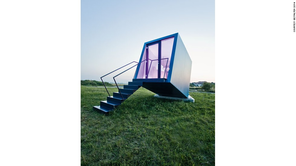 "<em>Hypercubus, Austria</em><br /><br />This petite tilted house was developed to help encourage regional tourism, and can easily be transported wherever it's needed, based on demand. There is enough space to comfortably accommodate two people, and each room comes with its own sink and toilet. The architects, <a href=""http://www.wg3.at/?lang=en"" target=""_blank"">Studio WG3</a>, envisaged for several units to be brought together for big events, creating a whimsical village on an open plain. <br />"