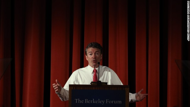 BERKELEY, CA - MARCH 19:  U.S. Sen. Rand Paul (R-KY) speaks during the Berkeley Forum on the UC Berkeley campus on March 19, 2014 in Berkeley, California.  Paul addressed the Berkeley Forum on the importance of privacy and curtailing domestic government surveillance.  (Photo by Justin Sullivan/Getty Images)
