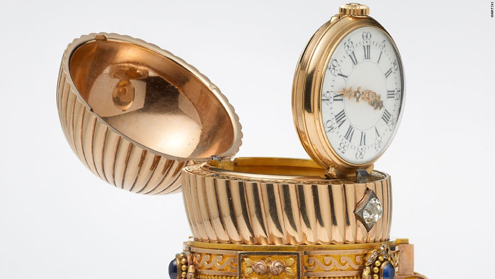 "Carl Faberge's jewelery workshop made 50 Easter eggs for the Russian royal family, each taking a year or more to craft. According to Faberge, designs were produced in the greatest secrecy, ""the only pre-requisite being that they contained a surprise."""