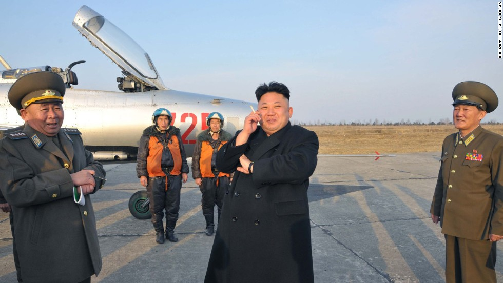 In this photo released by the state-run Korean Central News Agency, North Korean leader Kim Jong Un smokes a cigarette as he attends a military flight exercise in Pyongyang, North Korea, on Monday, March 17.
