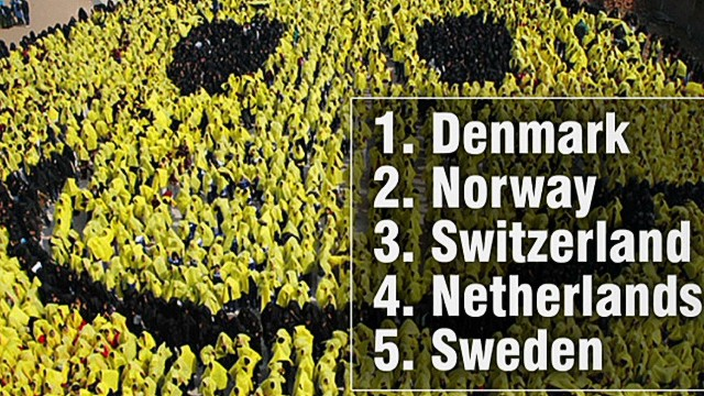 Scandanavian countries rank as happiest